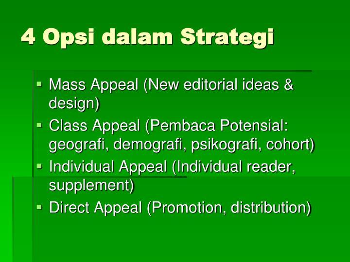 4 Opsi dalam Strategi