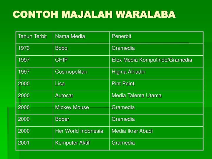 CONTOH MAJALAH WARALABA