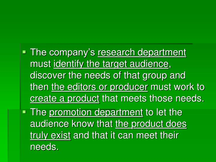 The company's