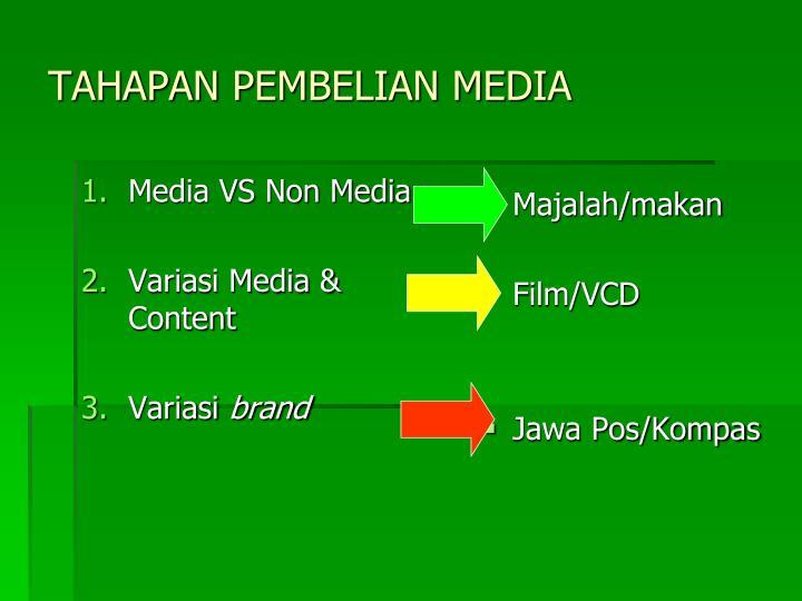 Media VS Non Media