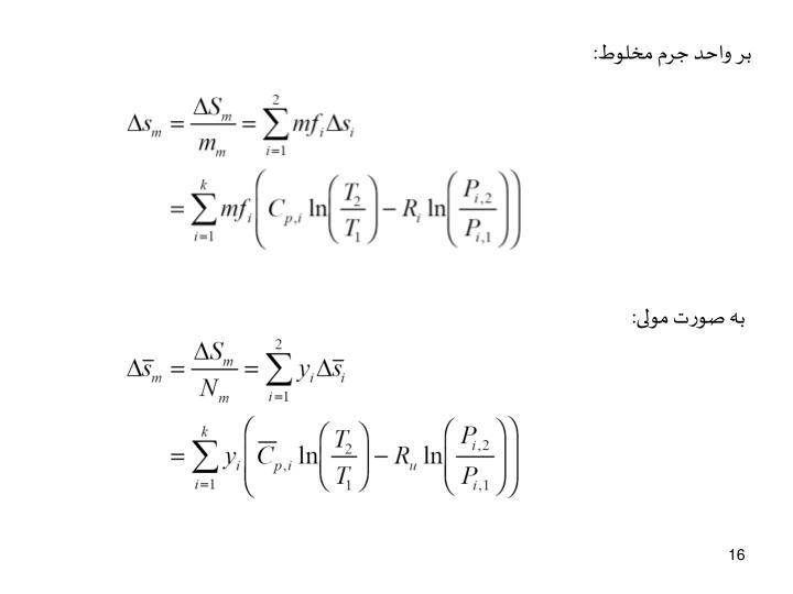 بر واحد جرم مخلوط: