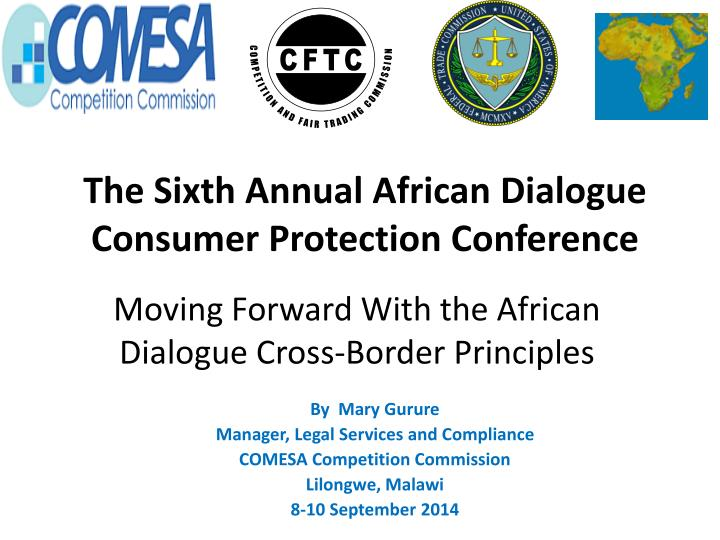 Moving forward with the african dialogue cross border principles