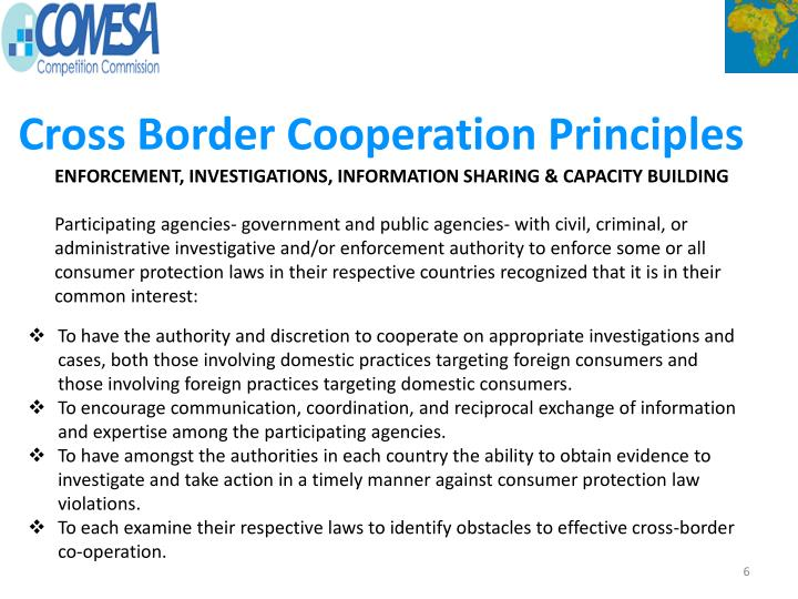Cross Border Cooperation Principles