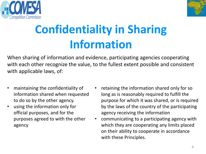 Confidentiality in Sharing Information