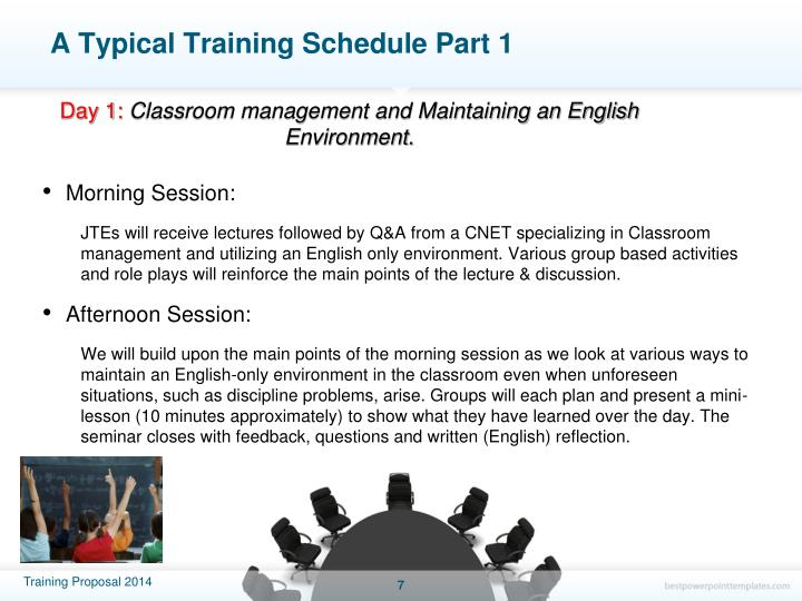 A Typical Training Schedule Part 1