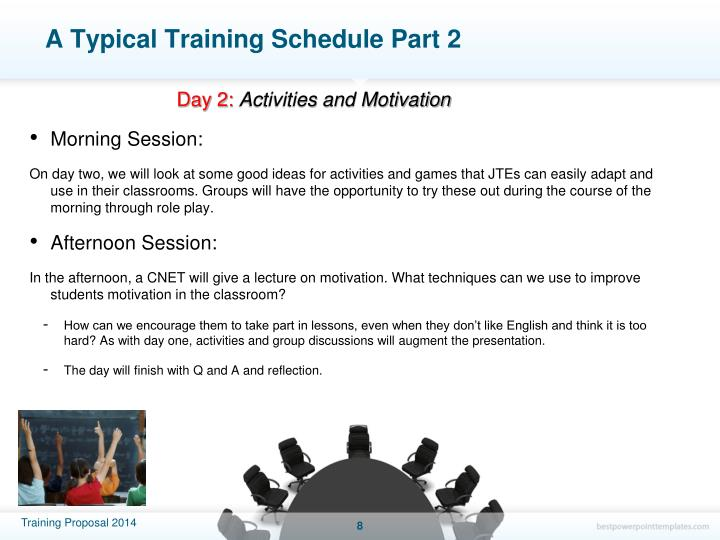 A Typical Training Schedule Part 2