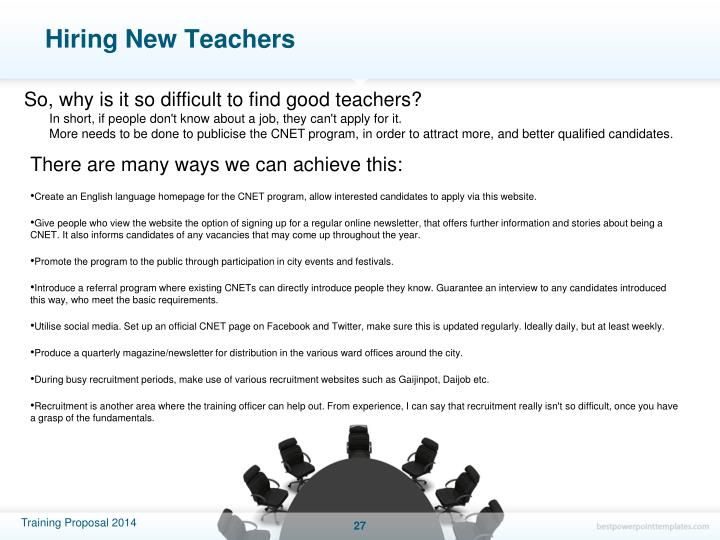 Hiring New Teachers