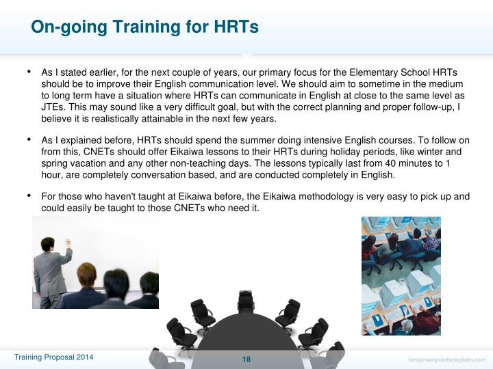 On-going Training for HRTs
