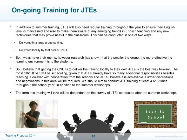 On-going Training for JTEs