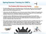 spring summer training for cnets2