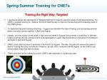 spring summer training for cnets3