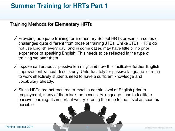 Summer Training for HRTs Part 1