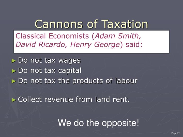 Cannons of Taxation