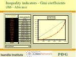 inequality indicators gini coefficients jhb africans