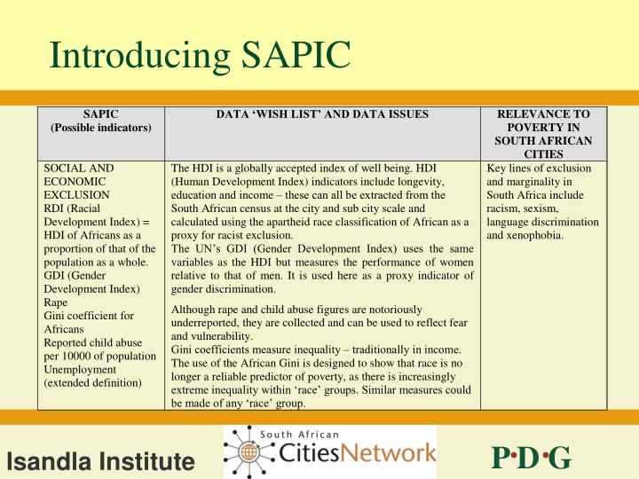 Introducing SAPIC
