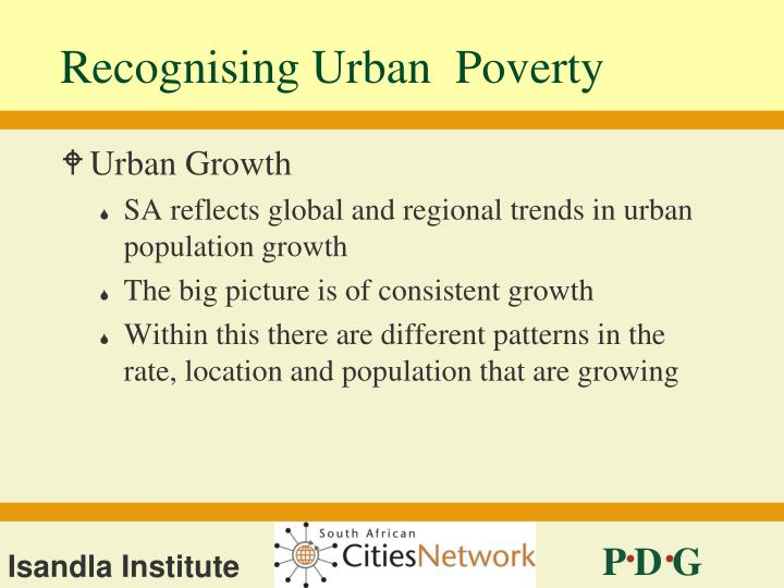 Recognising urban poverty