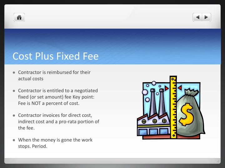 Cost Plus Fixed Fee