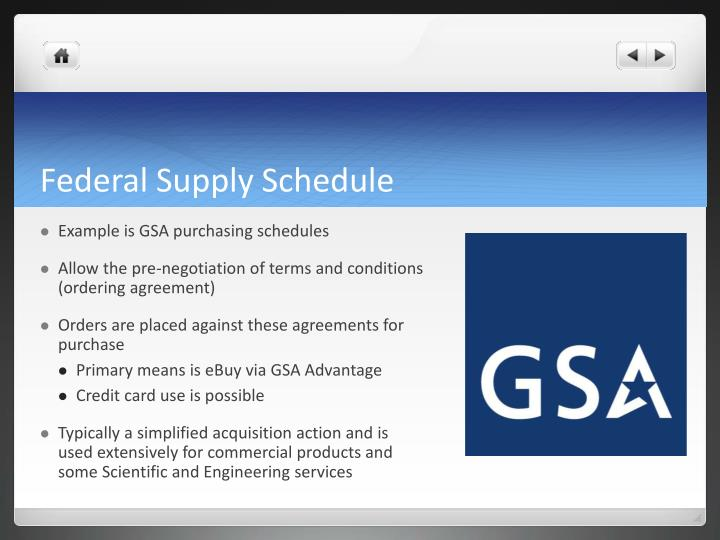Federal Supply Schedule