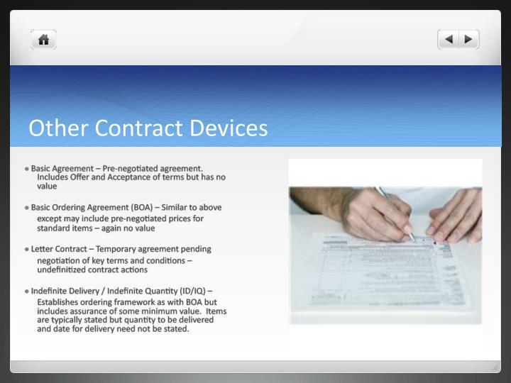 Other Contract Devices