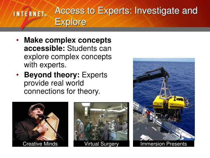 Access to Experts: Investigate and Explore