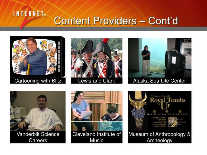 Content Providers – Cont'd