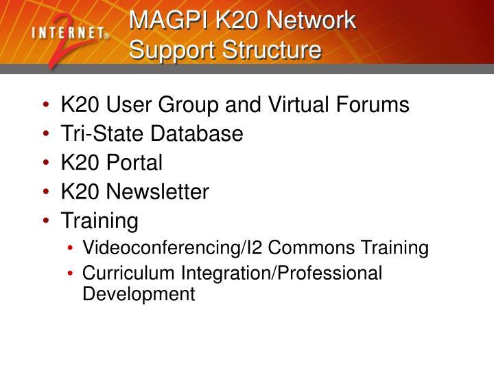 MAGPI K20 Network