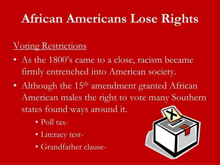 African Americans Lose Rights