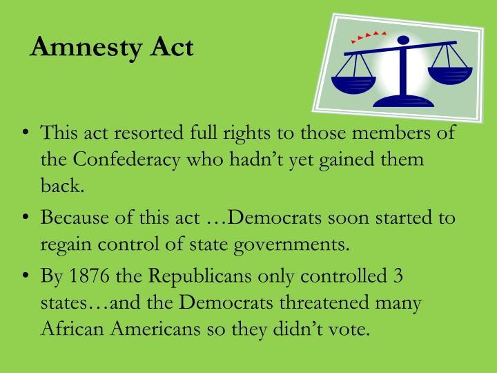 Amnesty Act