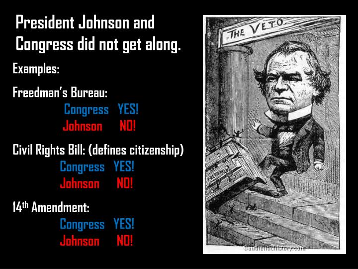 President Johnson and Congress did not get along.