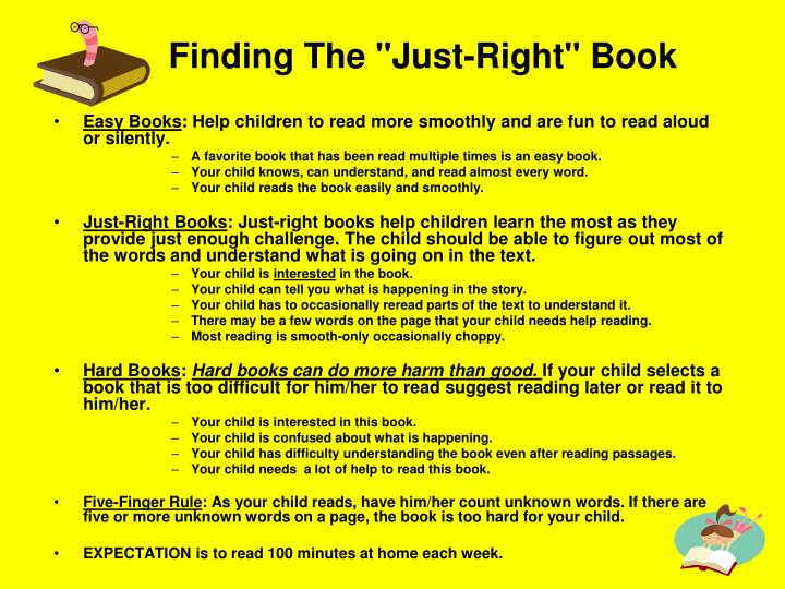 "Finding The ""Just-Right"" Book"