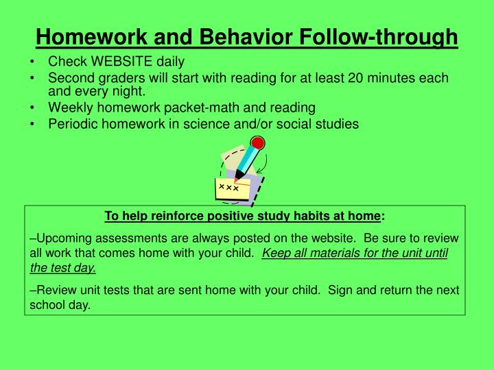 Homework and Behavior Follow-through