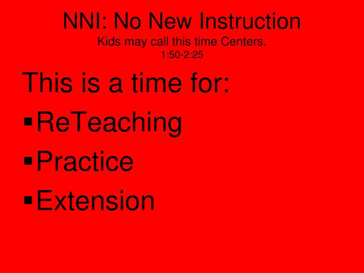 NNI: No New Instruction