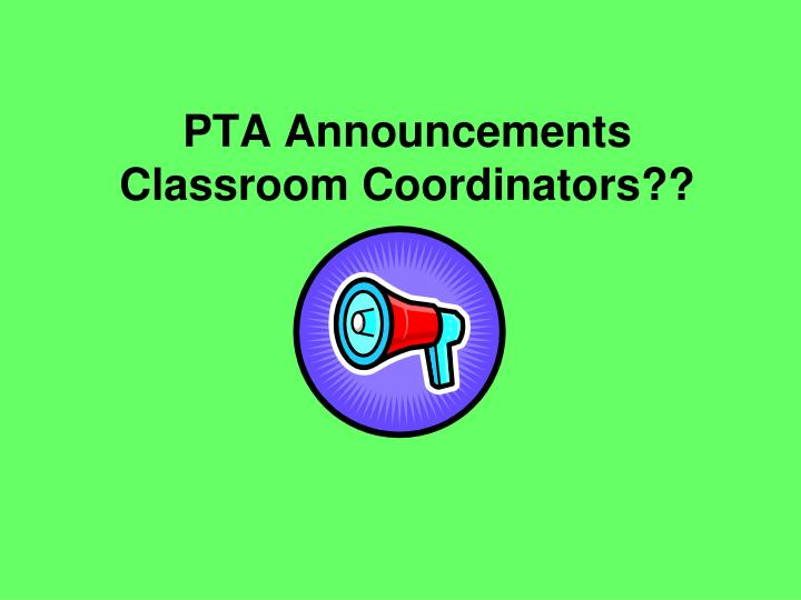 PTA Announcements