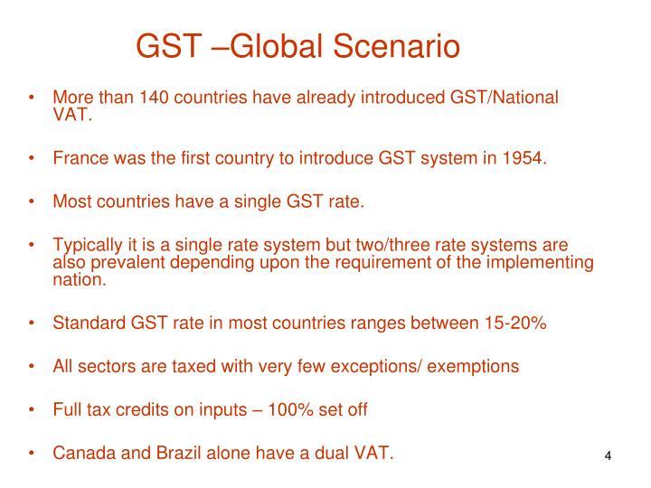 GST –Global Scenario