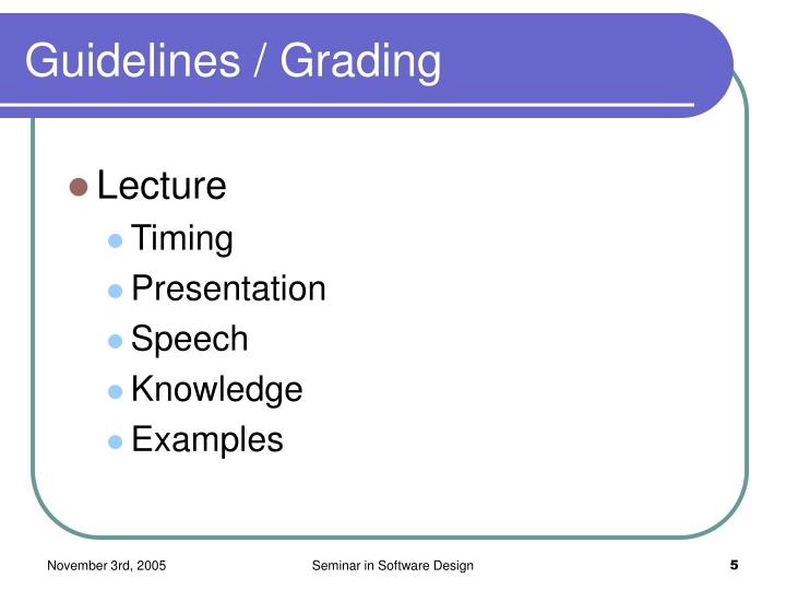 Guidelines / Grading