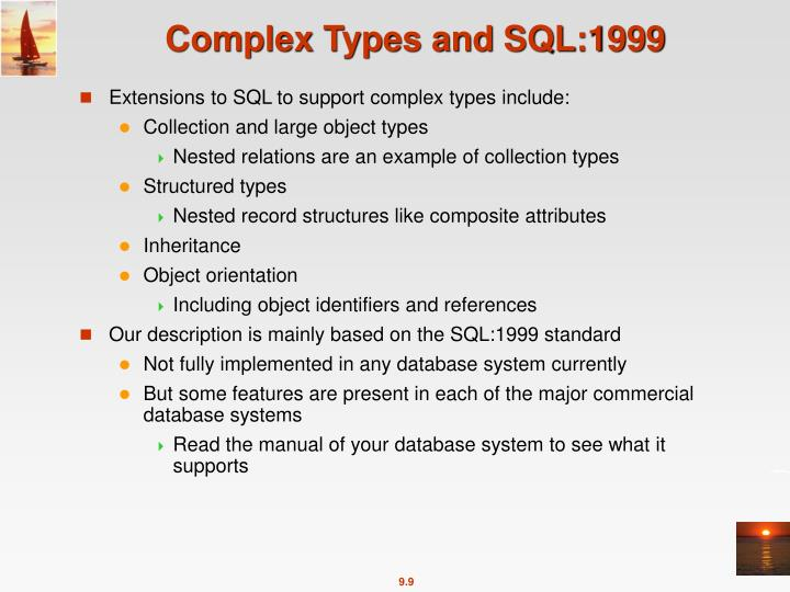 Complex Types and SQL:1999