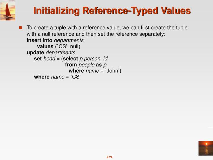 Initializing Reference-Typed Values
