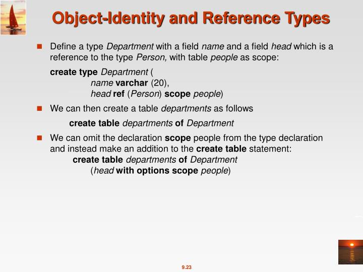 Object-Identity and Reference Types