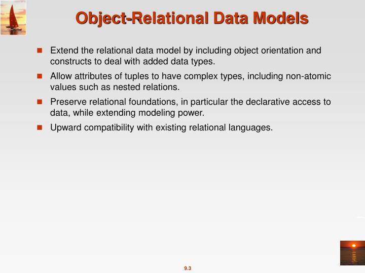 Object-Relational Data Models