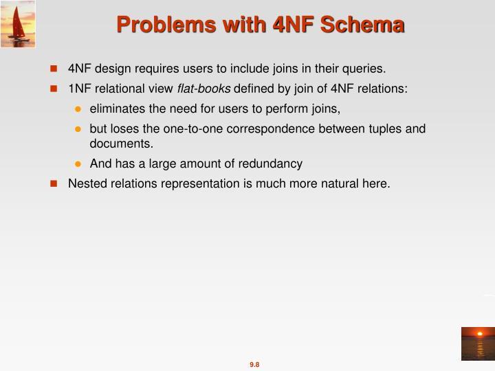 Problems with 4NF Schema