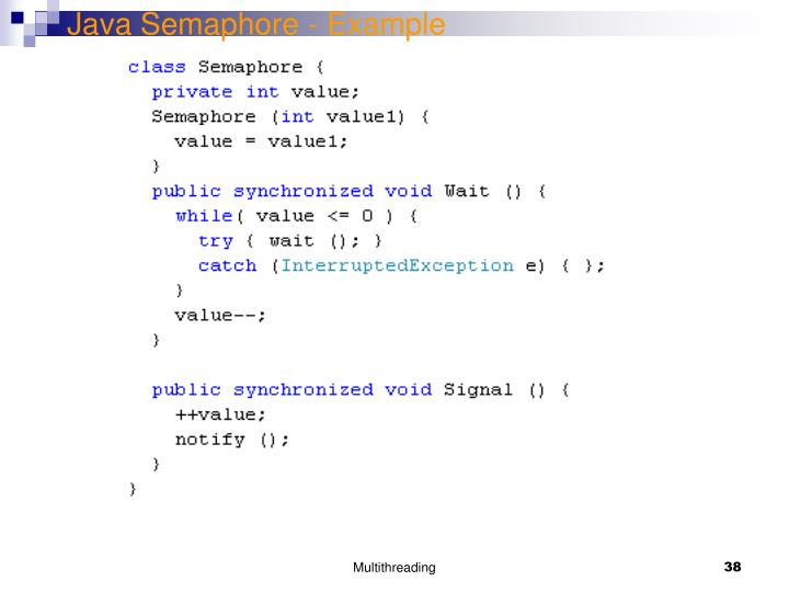 Java Semaphore - Example