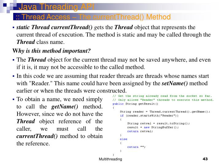 Java Threading API