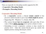 threading models