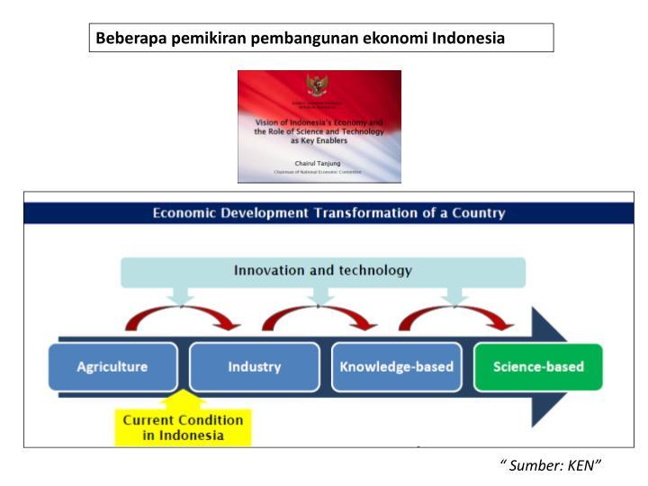 Beberapa pemikiran pembangunan ekonomi Indonesia