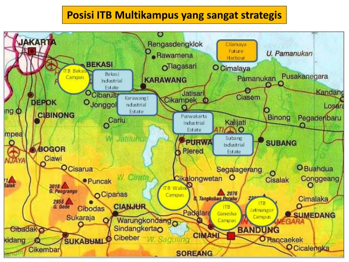 Posisi ITB Multikampus yang sangat strategis
