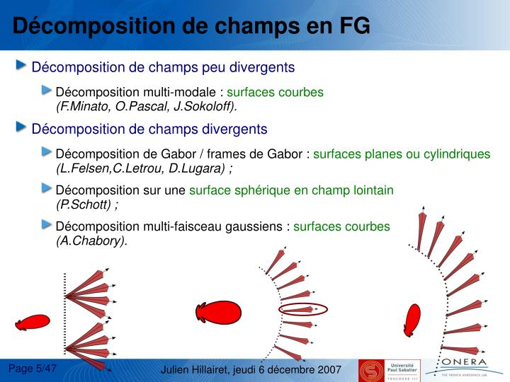 Dcomposition de champs en FG