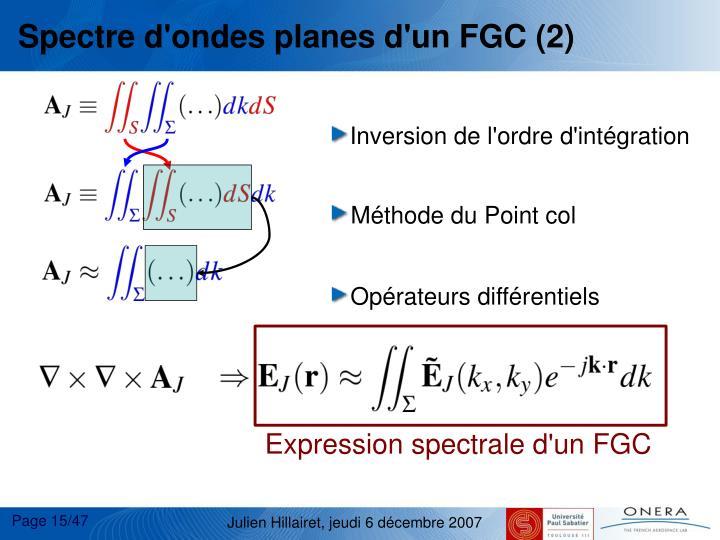 Spectre d'ondes planes d'un FGC (2)