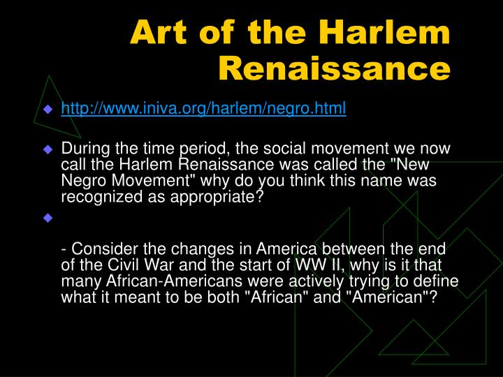 Art of the Harlem Renaissance