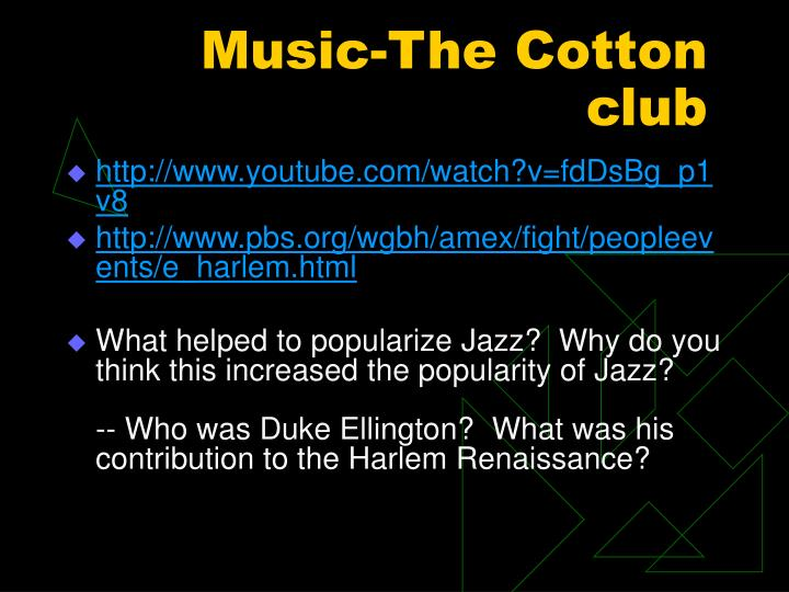 Music-The Cotton club