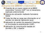 integraci n bbdd corporativa